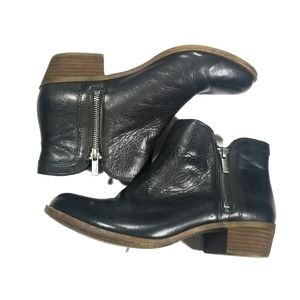 Lucky Brand Black Leather Breah Booties 9.5